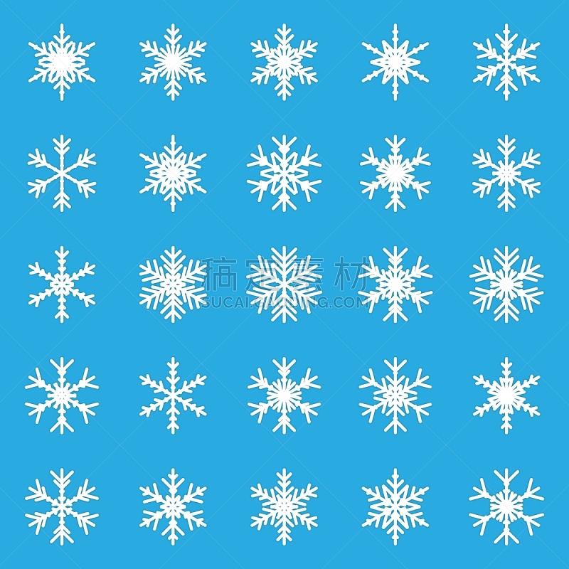绘画插图,冬天,雪花,矢量,计算机图标,背景,下雪,布置,收集