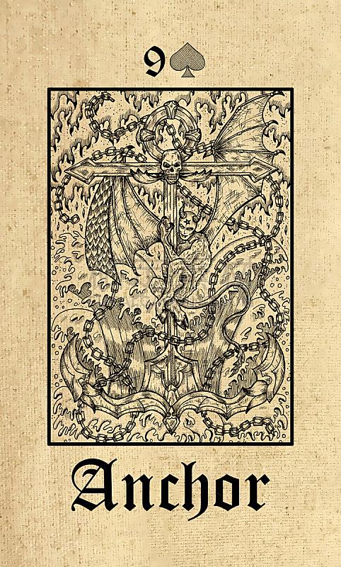 秘密,哥特式风格,预言家,锚,塔罗牌,甲板,纸牌,怪异,巫毒教
