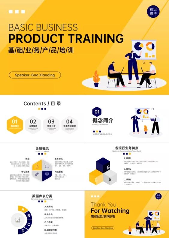 金融银行产品培训推广PPT