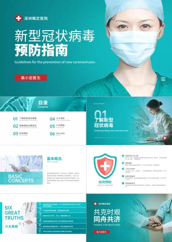 清新医疗新型冠状病毒预防指南PPT