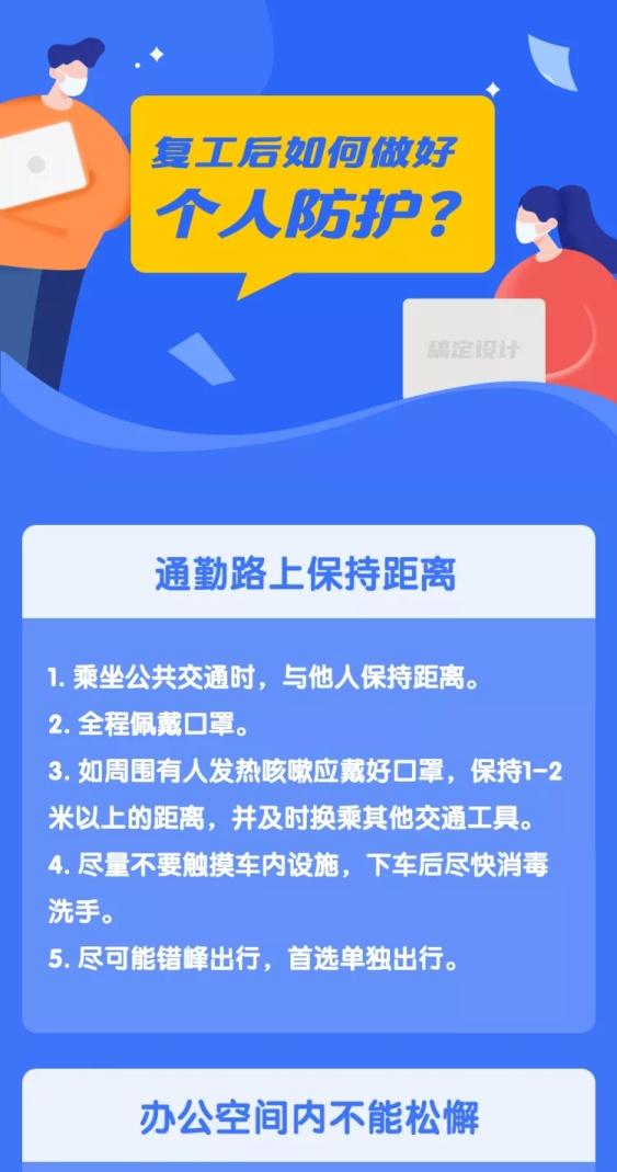 肺炎疫情复工个人防护预防传染科普文章长图