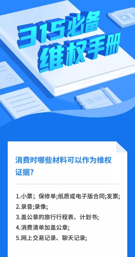 315消费者权益日维权科普文章长图