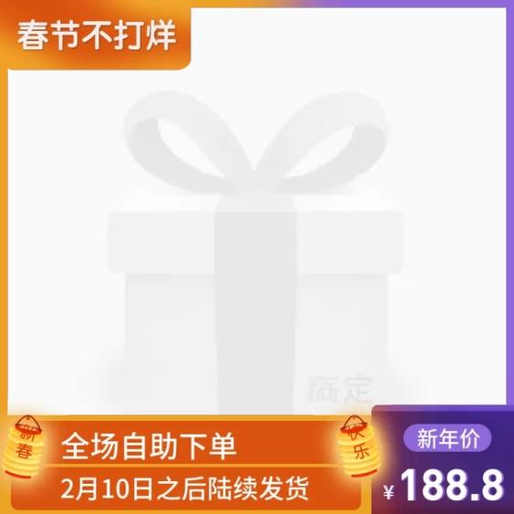 春节/年货节/新年/2020/通用/快递说明/橙色蓝色/主图图标