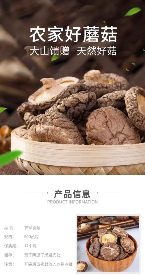 食品/南北干货/蘑菇/菌类/简约/详情页