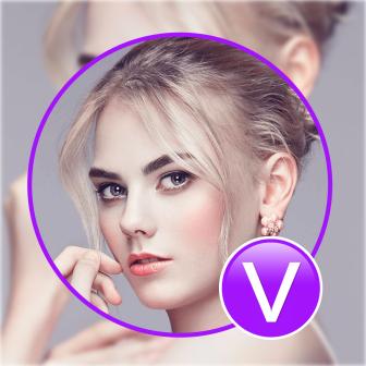 紫色加V微信头像