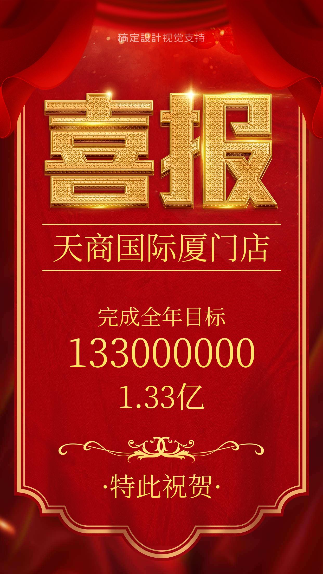 喜庆金融保险理财行业红色业绩喜报