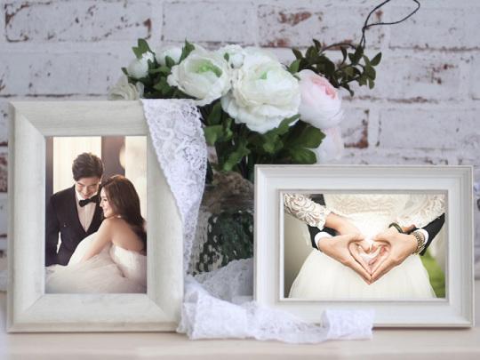 唯美婚礼实景相片