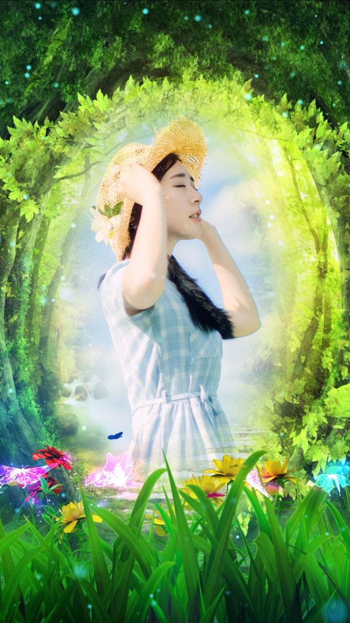 森林梦幻精灵融图