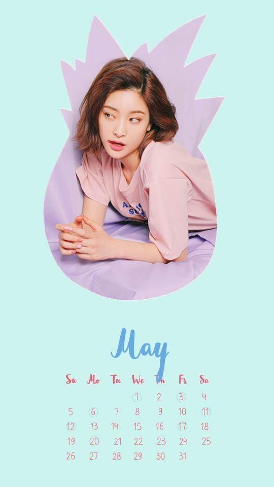 五月拼图日历